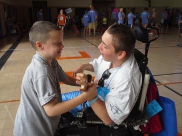 Volunteer Archer with my son, Noah